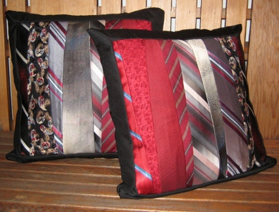 Tie Pillow Covers Decorative Upcycled From Your Favorite Ties
