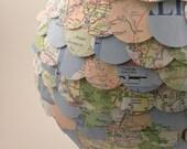 "8"" Vintage Map Paper Lantern"