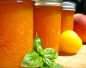 Peach Plum Jam infused with Sweet Basil - Pleach