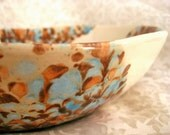 Hand-painted Robins Egg Ceramic Bowl