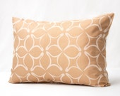 25% OFF SALE!!! Twilo Gold Decorative Lumbar Pillow Cover 14 x 20 - whimsical cottage chic romantic gold and beige pillow