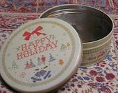 Retro Holiday Cookie Tin