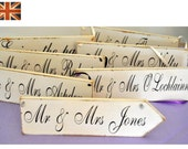 Vintage Wedding Sign arrow or rectangle
