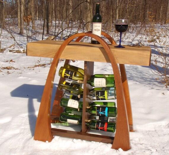 Mahogany Curvy Wine Rack