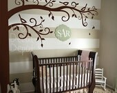 Wall Decal Nursery Wall Decal - Corner Tree Wall Decal - 33