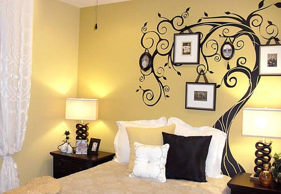 Windy Tree Wall Decal Bedroom Wall Decals wall by WallDecalDepot
