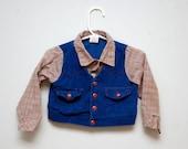 SUPER SALE: Vintage baby Western shirt/vest combo