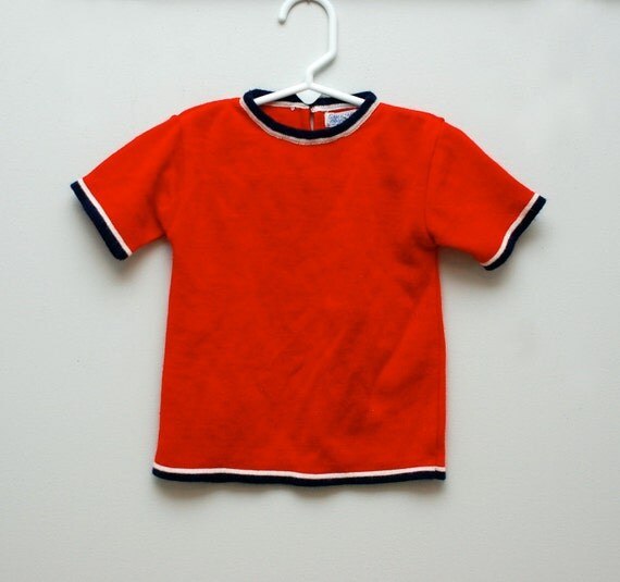 Vintage red t-shirt sweater