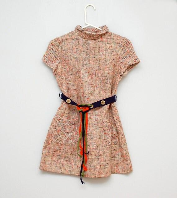 SALE: Vintage rainbow mod dress