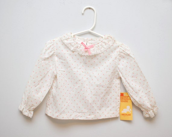Vintage calico baby blouse
