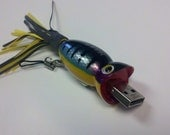 Flash Drive Hula Popper Fishing Lure 16 GB USB Thumb Drive - Perch Flashy Fish Drive