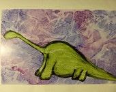 PIF Dinosaur Watercolor Print