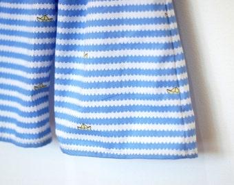 Sailor Pants / Cotton  / Little Boys / Blue Waves  / 0-6 months or 6-12 months