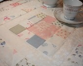 Shabby Chic Quilted Table Runner in Pastel prints