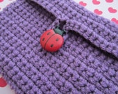 Lady Bug Crochet Accessory Bag (Violet)