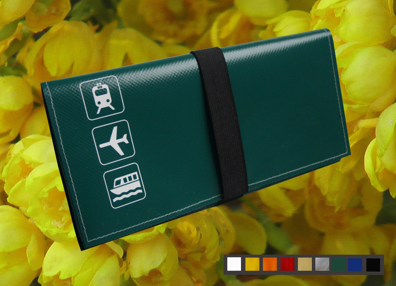travel document holder pouch from vinyl available in 8 With vinyl document pouch