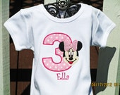 Minnie Mouse Birthday Shirt - Minnie Mouse Shirt Only