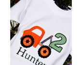 Tow Truck Shirt -  Boys Birthday Shirt - Boys Birthday Party