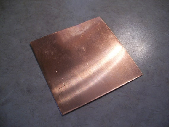 pure copper sheet 12 x 12 x 24 gauge for craft. Black Bedroom Furniture Sets. Home Design Ideas