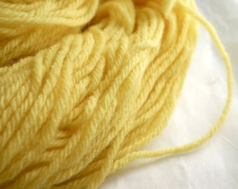 Vintage Yellow Tapestry Yarn- Crewel Needlepoint - Wool- Approx 2 oz
