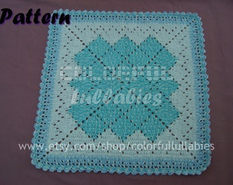Crochet baby blanket pattern, Solid granny square afghan pattern, Crochet baby afghan, Crochet blanket for baby
