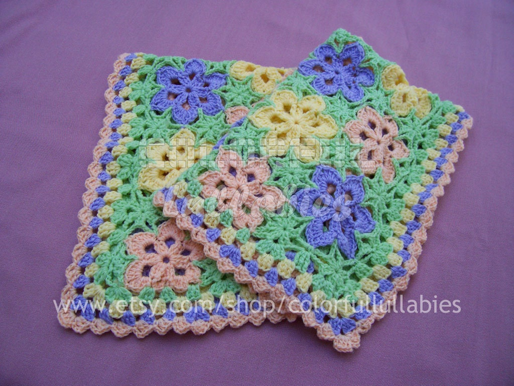Crochet Flower Pattern Blanket : Crochet baby blanket Pattern. Flower crochet by ...