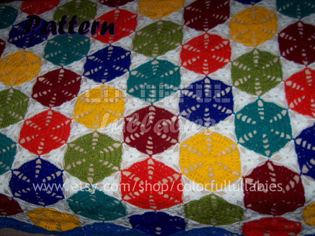 Crochet hexagon and triangle blanket pattern granny hexagon zoom bankloansurffo Image collections