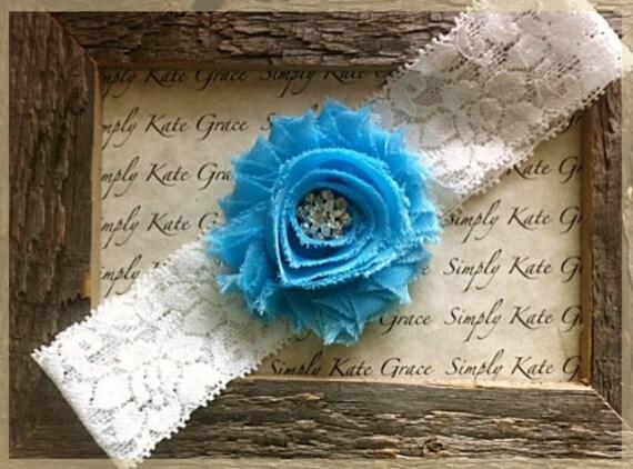 Wedding Garter- Something Blue Vintage Wedding Bridal Garter-Toss Garter- Something Blue
