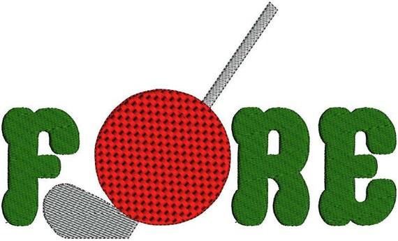 Golf Fore Golf Ball Golfing Golf Club 18 by ...