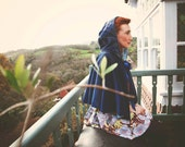 The 'Oh Grandma' Velvet Cape With Hood, Made From Recycled Velvet & Organic Cotton