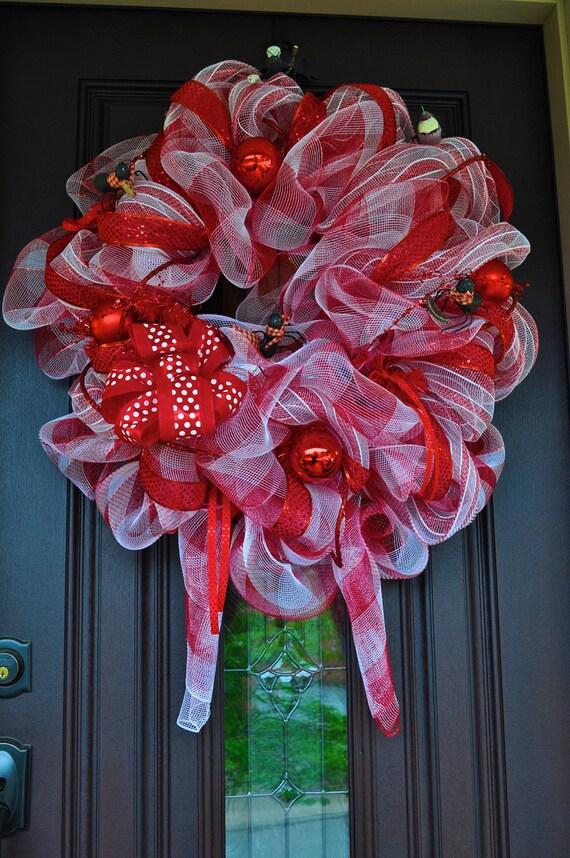 Ant Wreath, Summer Wreath, Deco Mesh Wreath, Picnic Wreath, OOAK Wreath, OOAK, Wreath