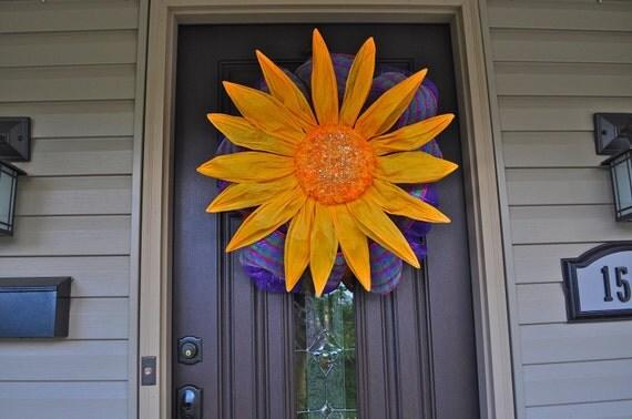 Summer Wreath, Wreath, Deco Mesh Wreath, Deco Mesh, Flower, Flower Wreath