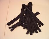"8"" Black ZIpper  -- 0.01 Shipping Cost"