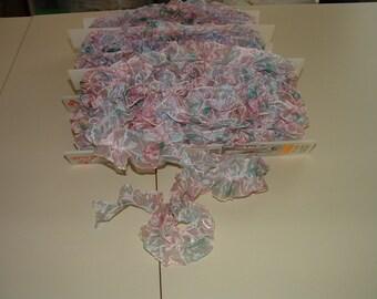 Pink Sheer fabric ruffle