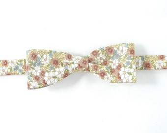 Men Wedding brown yellow pastel bowtie - Baby, toddler boys tie Kids Bow Tie