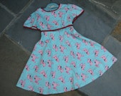 Girls Summer Dress - Pink Puddles - Size 4T