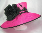 Hot Pink and Black Kentucky Derby Hat