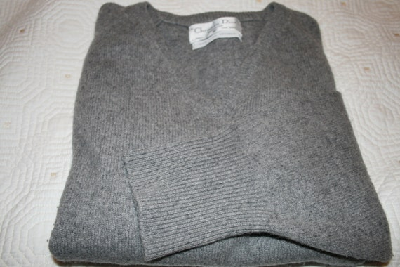 Christian Dior Luxe Vintage Grey Cashmere