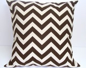 BROWN PILLOW Sale.18x18 inch.Pillow Cover. Brown Decorative Pillows.Brown Pillow Cover. Housewares.Brown Pillow..Zig Zag Cushion.Home Decor