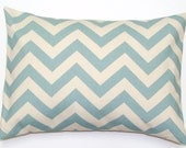 Blue Pillow.16x20 or 12x20 inch Decorator Lumbar Pillow Cover.Free Shipping