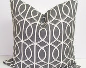 Pillow.Charcoal Gray.16x16 inch.Decorator Pillow Cover.Printed Fabric Front and Back