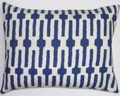 SALE.Pillow.Blue.12x16 inch Decorator Lumbar Pillow Cover.Free Shipping