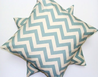 BLUE PILLOW SET.Sale 16x16 inch.Pillow Covers.Decorative Pillows.Housewares..Blue Pillows.Chevron..Chevron.Blue Pillow.Home Decor.Blue.41 cm