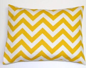 YELLOW CHEVRON PILLOW.12x20, 16X20 or 16x24 inch Decorative Lumbar Pillow Cover.Housewares.Home Decor.Yellow Pillow Cover.Cusion.cm.ZigZag.