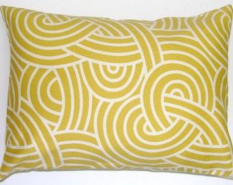 GOLD PILLOW.12x16 or 12x18 inch Decorative Pillow Cover.Housewares.Home Decor.Gold Pillow Cover.Cushion.Swirl.Citrine.Cm.Gold Cushion.Cm