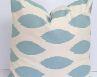 BLUE PILLOW SALE.14x14 inch.Decorative Pillow Cover.Home Decor.Housewares.Blue Pillow.Spots.Ikat.Pillow Coordinates.Blue Fabric.Housewares