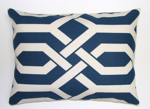 Pillow.Navy Blue Pillow.Geometric.12x16 or 12x18 inch Decorative Lumbar Pillow Cover.Free Shipping.Cushion Cover