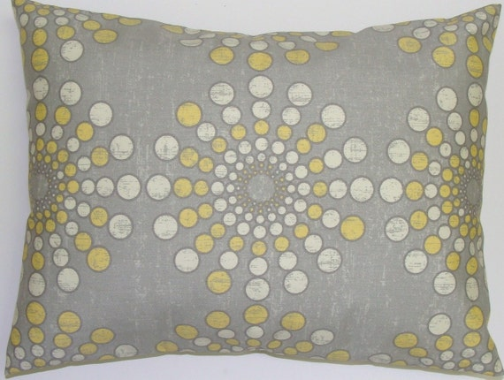 SUNBURST PILLOW SALE.12x18 inch.Pillow Covers.Decorative Pillows.Cushion.Sunburst.Pillow Cover.Starburst.Cushion.cm.Citrine Yellow.Gray.Grey