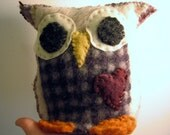 Upcycled from felted wool Owl hand puppet