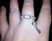 Chain Charm Heart Key Ring